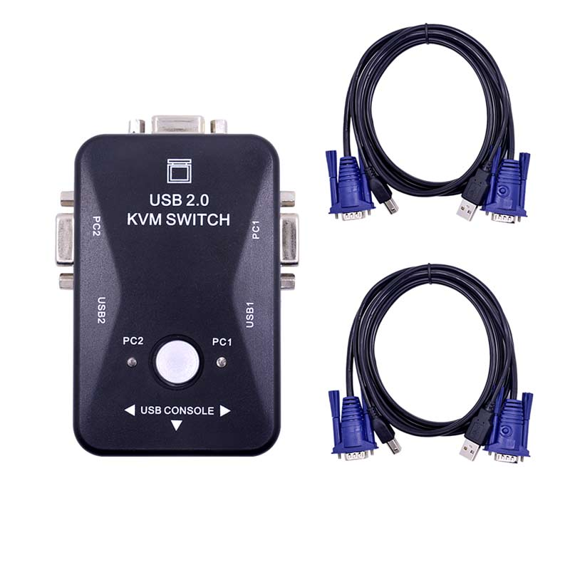 Ingelon KVM SWITCH vga Cavo selettore di Alta Qualità USB 2.0 vga splitter Box per tastiera mouse monitor adattatore usb switcher