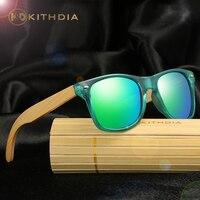 KITHDIA Bamboo Wood Sunglasses Men Mirror Polarized Lens Natural Oval Eyewear Sunglass Female Bamboo Wooden Glasses Women