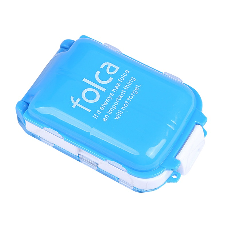 Новое поступление еженедельно сортировать складной витамин лекарство Pill Box Макияж контейнер для хранения и переноски Чехол 10*6.6*3.5 см