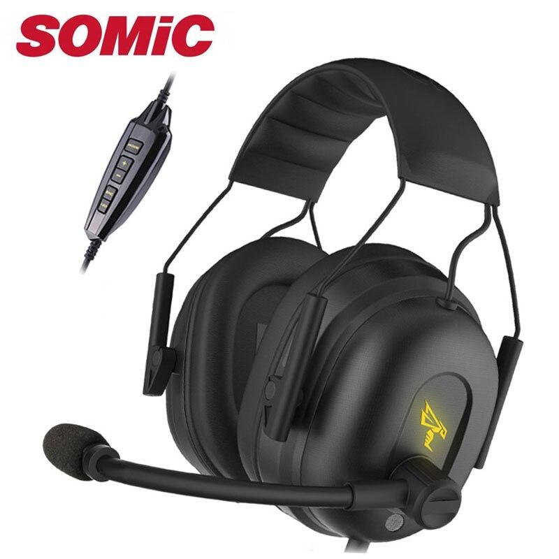 Casque de jeu 7.1 casque audio écouteurs USB avec Microphone PC basse stéréo ordinateur portable marque Somic G936