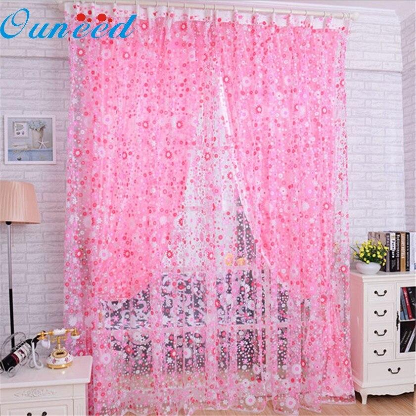 Zero красивый принт цветочный вуаль дверь Sheer окна Шторы комнаты Шторы делителя 2 м x  ...