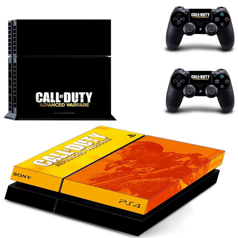 call duty PS4 Skin Sticker For Sony Playstation 4 PS4 Console protection film and Cover Decals Of 2 Controller