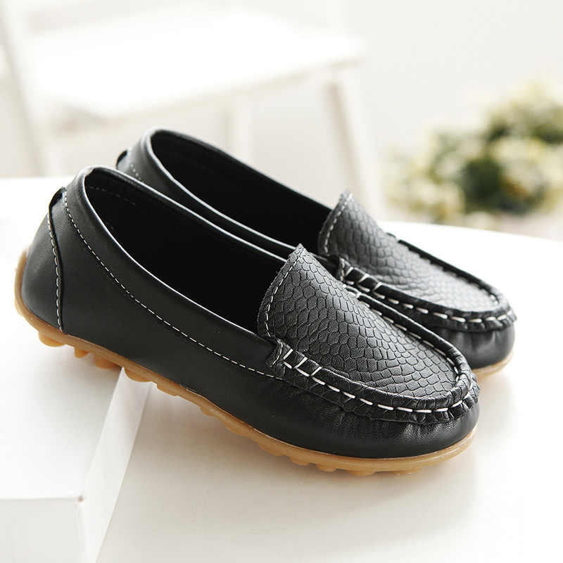 ילדי אופנה בניו נעלי נעלי עור כל גודל 21-30 ילדים PU נעלי תינוק בנים/בנות נעלי סירה להחליק על רך 5 צבע