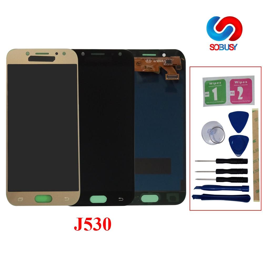 Sobusy LCD Pour samsung Galaxy J5 Pro 2017 J530F SM-J530F LCD AFFICHAGE À l'écran Tactile Digitizer Pour samsung j5 pro LCD Pantalla tela