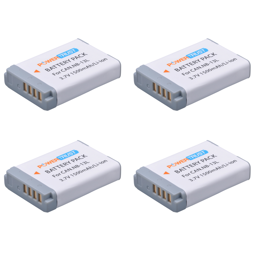 4Pcs NB-13L NB 13L NB13L Battery for Canon PowerShot G5X G7X G9X G7 X Mark II G9 X,SX620 SX720 SX730 HS Digital Camera