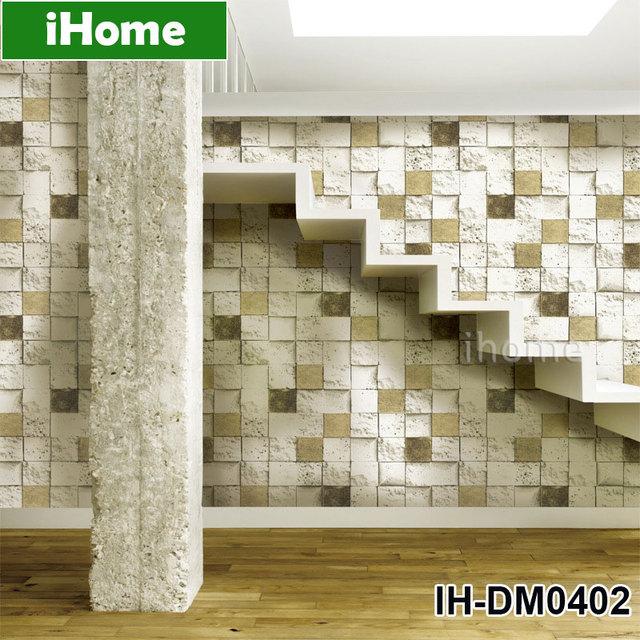 Lebensechte Mosaiken Muster Papier Basieren Pvc Tapete Mosaik