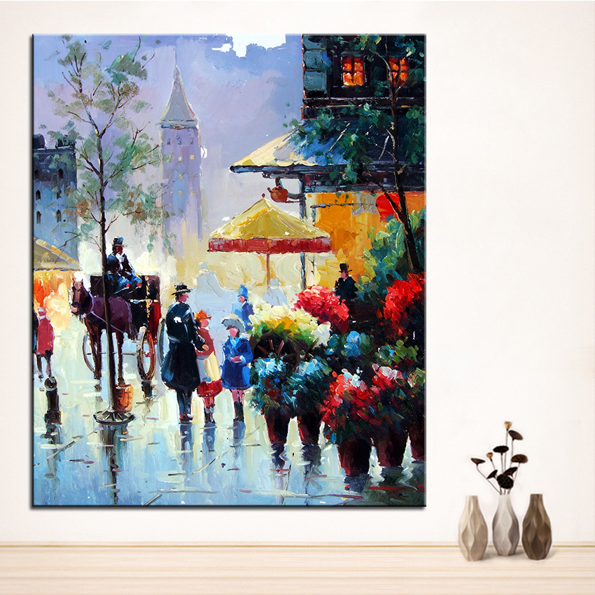 Extra Large Wall Painting Of Walk Home Office