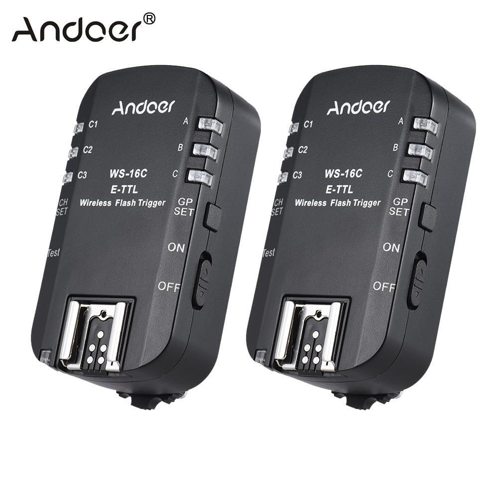 Andoer WS 16C E TTL Wireless Flash Trigger Transceiver for Canon 5D for YongNuo YN568EX etc