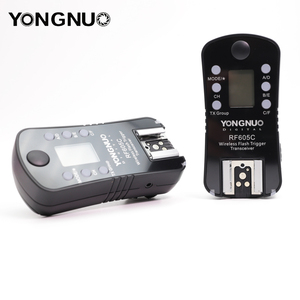 Image 3 - YONGNUO RF 605C RF 605N 2.4GHz Wireless Flash Trigger LCD Screen TX/RX Remote Control Shuttle Release for Canon Nikon Pentax