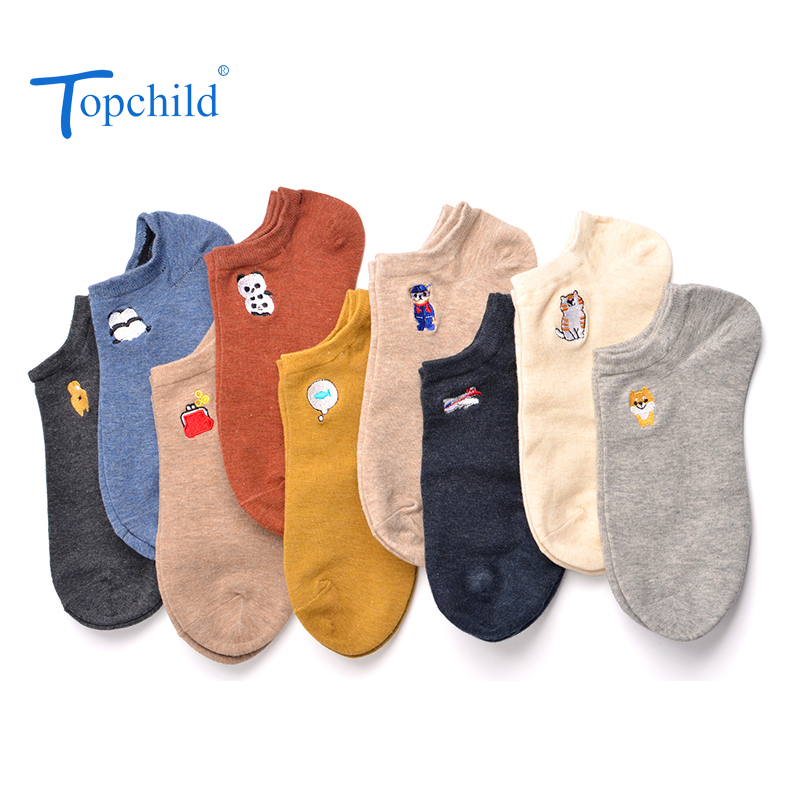 Topchild Couple Pure Color Cute Animals Winter Thick Warm Jacquard Socks Casual Comfortable High Quality Man Woman Big Size