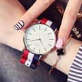 Gimto lujo mujeres de la marca de relojes reloj del deporte del reloj de cuarzo ocasional de nylon de colores señoras reloj de pulsera relogio feminino montre reloj