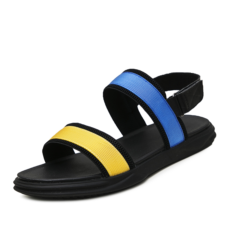new male Sandals Summer Genuine Leather soft bottom mens casual beach shoes Korean version Roman sandals men all match cowhide in Men 39 s Sandals from Shoes