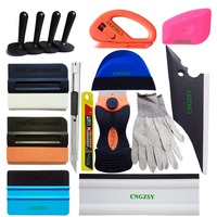 Auto Color Change Window Scraper Wrap Tint Vinyl Film Suede Wool Magnet Squeegee Cleaning Tool Kit