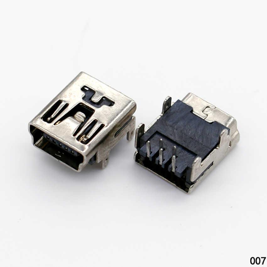 1X DIY MIni USB B 5 pinów żeńskie gniazdo 90 stopni samolot gniazdo złącza interfejs wtyczka do telefonu mp3 mp4 Tablet ect.