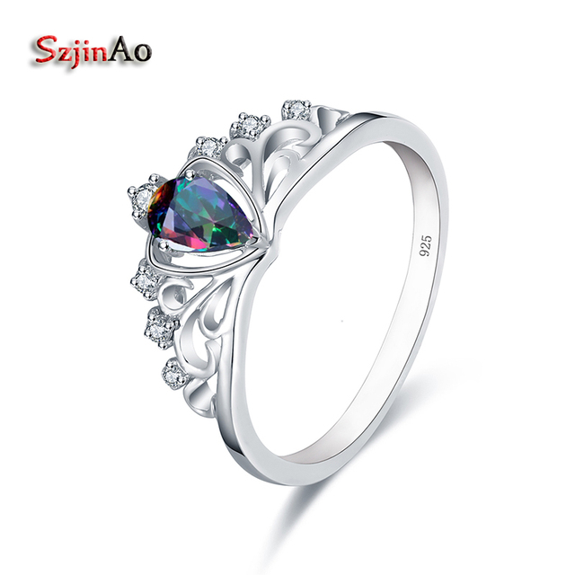 Szjinao Authentic 100 925 Sterling Silver Crown Forever Wedding