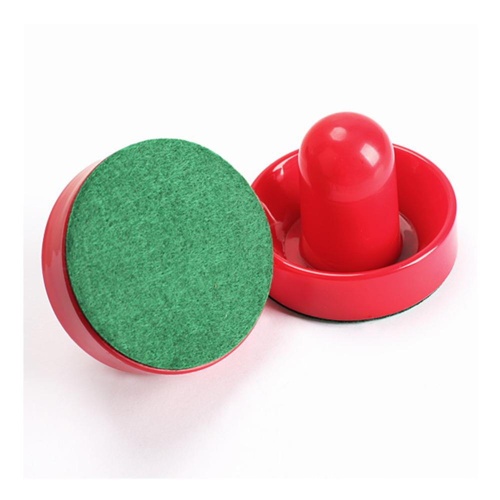 2Pcs 60mm Air Hockey Table Felt Pusher With 2pcs 50mm Puck Mallet Goalies A1 SS