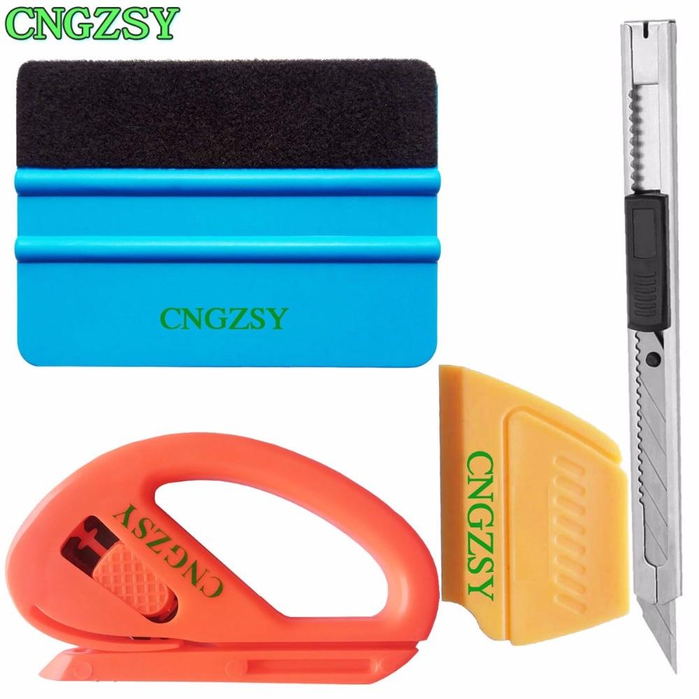 plastic conquerer squeegee mini sharp scraper snap-off art knife Snitty Vinyl Film Cutter Car Wrap Tools Application Tool K08