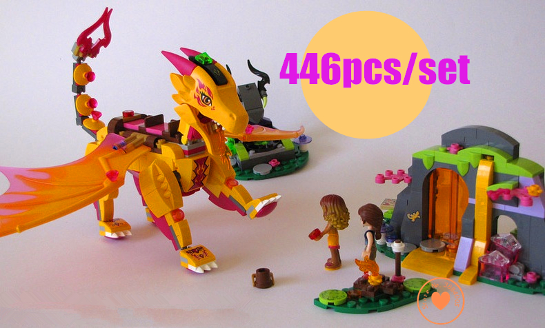New Azari Magical Bakery Fire dragon fit legoings fairy Elves figures friends Building Blocks bricks Girls Princess gift kid set 2018 new girl friends fairy elves dragon building blocks kit brick toys compatible legoes kid gift fairy elves girls birthday