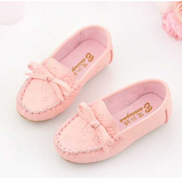 New Style Slip on Toddlers Moccasins Shoes Casual Kids Girls Shoes Soft Sole Baby Walkers Shoes Children Girls Loafers