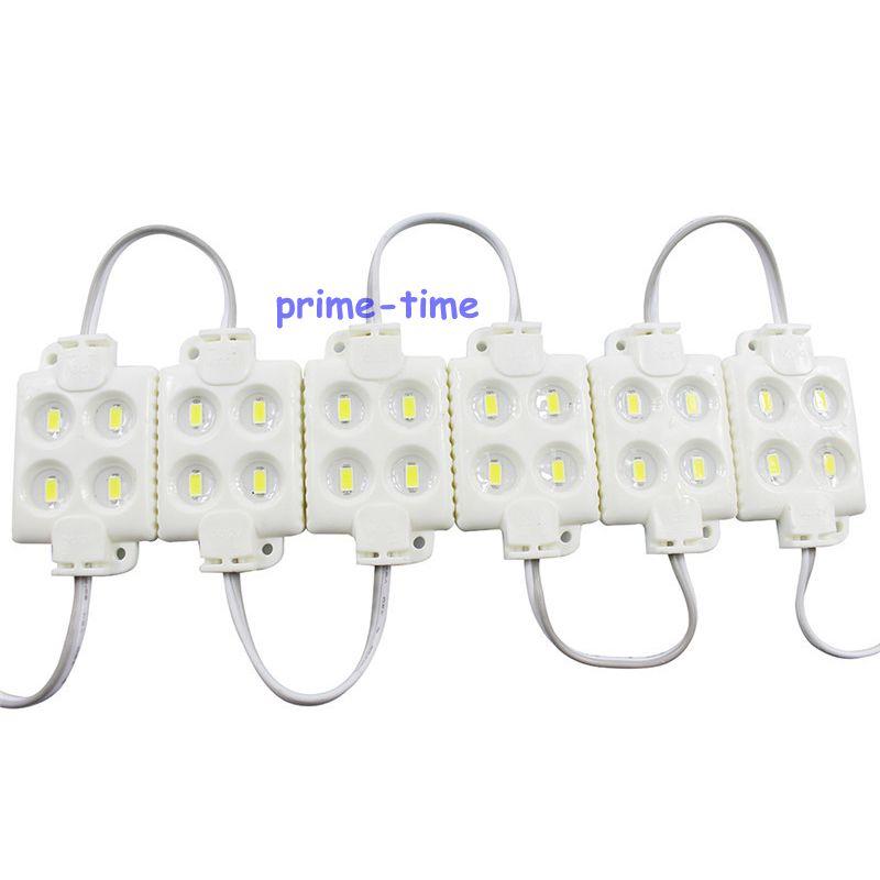 Супер яркие 100 шт. SMD 5630 4 Светодиодный модуль DC12V инъекции водонепроницаемый IP68 белый квадрат светодиодный модуль для освещения знака письмо