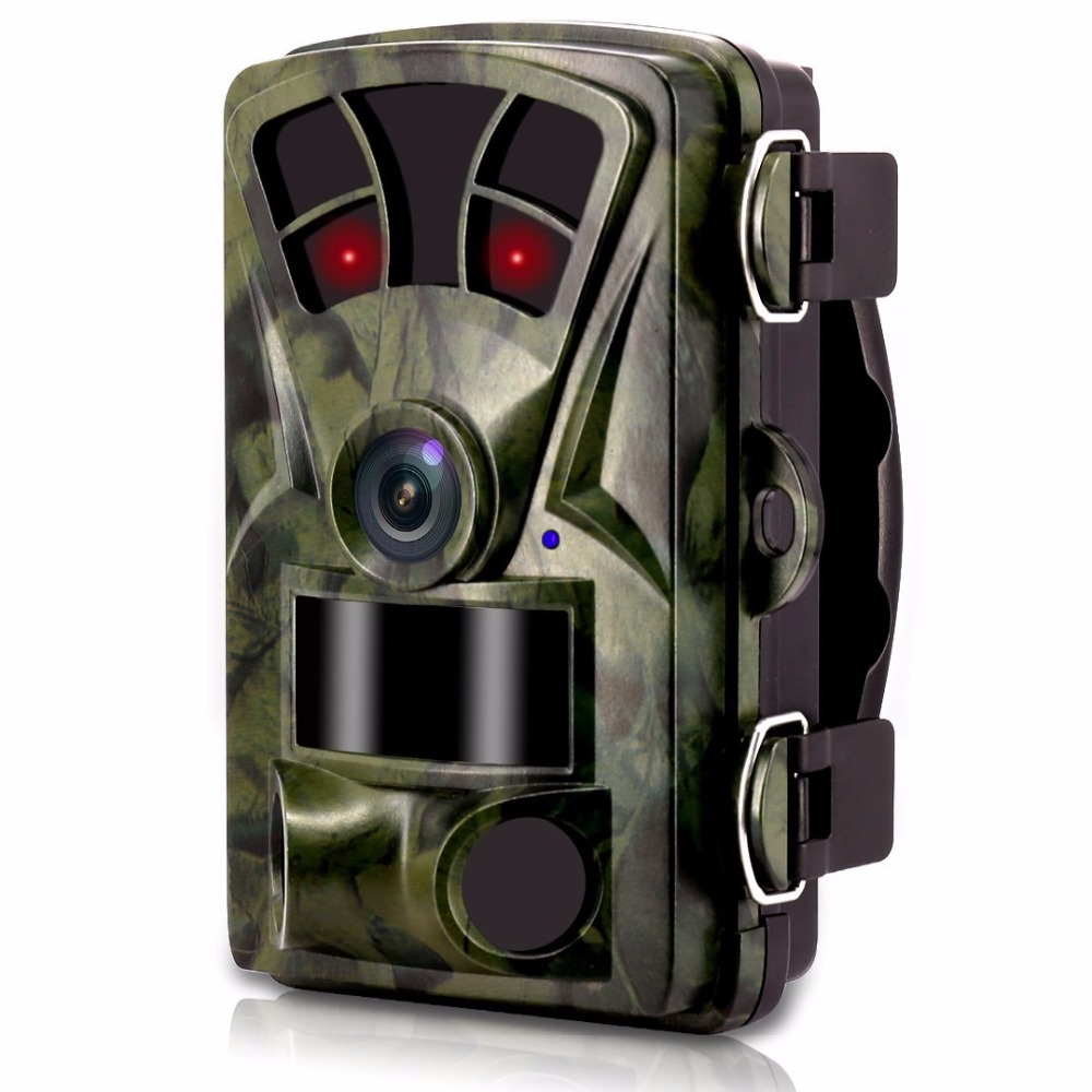 Night Vision Trail Camera 16MP Scouting Game Camera Hunting 1080P HD Low Glow Infrared Outdoor Surveillance Wildlife Camera Trap night infrared camera d3 big eye 16mp hd 1080p outdoor scouting hunting trail game video camera wild life animal hunting