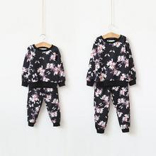 Floral Design Boys Tracksuit 2016 New O-neck Hoodies And Pants Children Clothing Sets Kids Boys Girls Clothing Set Streetwear
