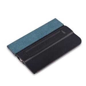 Image 5 - FOSHIO 5 stücke Carbon Faser Vinyl Film Auto Wrap Magnetische Rakel Fenster Farbton Kein Kratzer Wildleder Fühlte Magnet Schaber Auto aufkleber Werkzeug