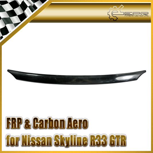 EPR Car Styling For Nissan Skyline R33 GTR Type 2 Carbon Fiber Hood Bonnet Lip