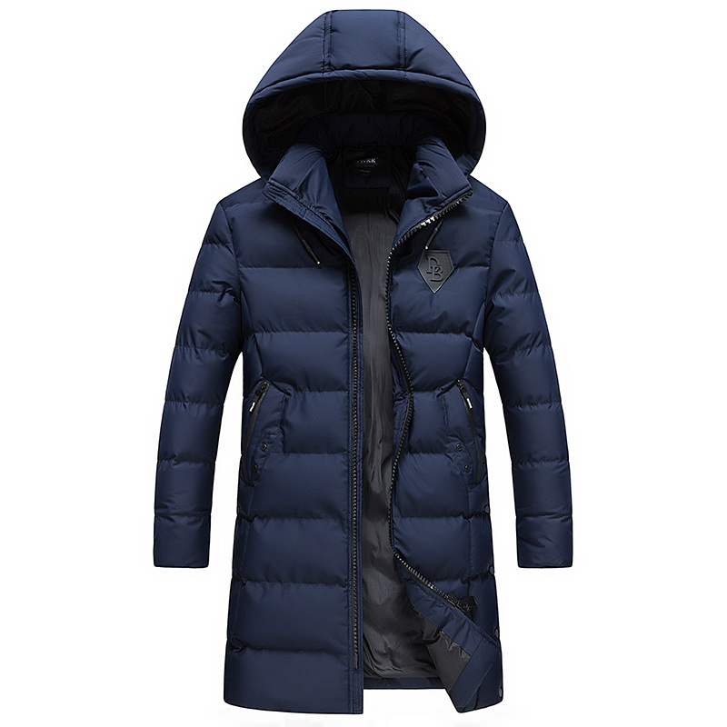 Men's Clothing 2019 Men Short Parka Black White Casual Warm Coat Thick Cotton Padded Jacket Male Hooded Parkas Winter Hooded Jacket