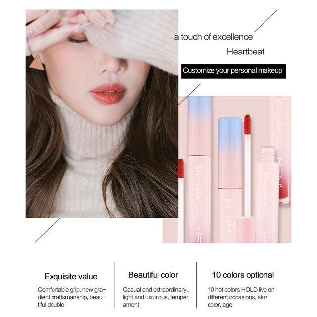 Lip Tint Makeup Matte Liquid Lipstick Mirror Lip Gloss Glitter Waterproof Lip Stick Long Lasting Sexy Red Lip Tint Korean Cosmet 5