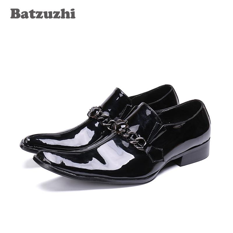 Batzuzhi Fashion Men Shoes POP Formal Leather Shoes Men Business, Black/Red Wedding Shoes Men Formal Designer Sapato MasculinoBatzuzhi Fashion Men Shoes POP Formal Leather Shoes Men Business, Black/Red Wedding Shoes Men Formal Designer Sapato Masculino