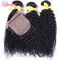 7A Brazilian kinky curly with silk closure,Brazillian 3 bundles with silk closure,Brazilian virgin hair with silk base closure