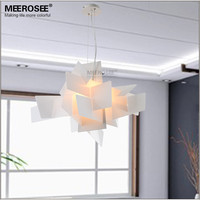 Modern Pendant Lightings Art Suspension Lamp Drop White Red Color Lamp Dining Room Luminaria Irregular Foscarini Lustre Fixture
