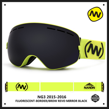 New NANDN brand ski goggles double UV400 anti fog big ski mask glasses skiing men women