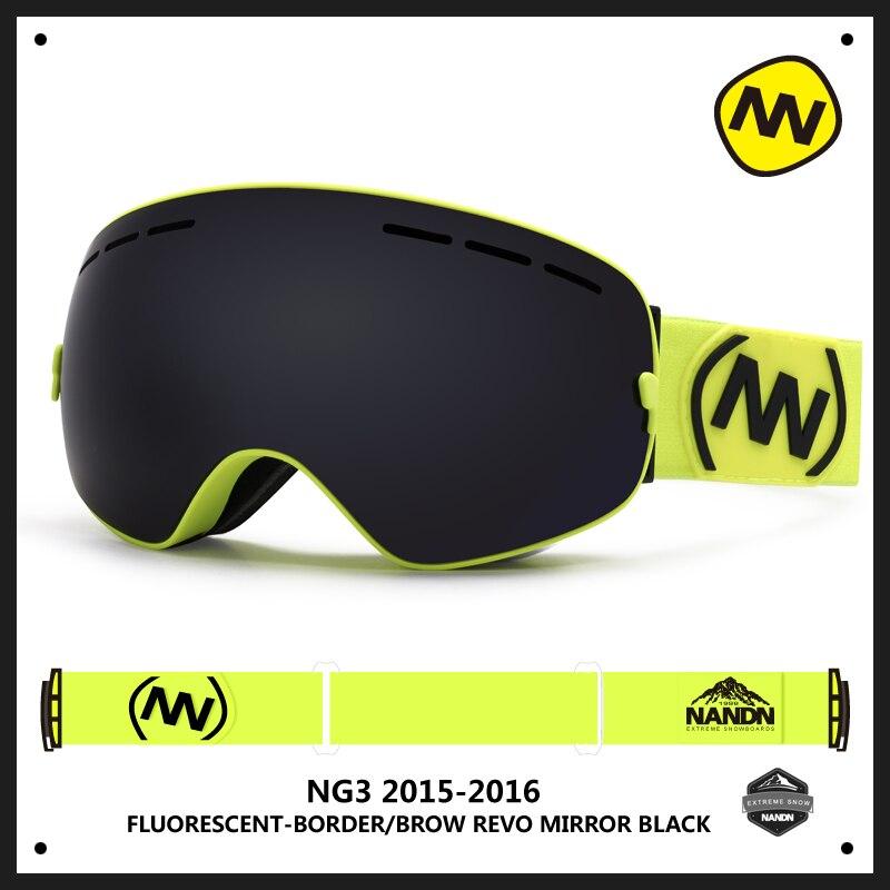 Prix pour Nouveau NANDN marque ski lunettes double UV400 anti-brouillard grand masque de ski lunettes de ski hommes femmes neige snowboard lunettes