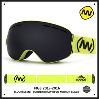 New HERBA Brand Ski Goggles Double UV400 Anti Fog Big Ski Mask Glasses Skiing Men Women