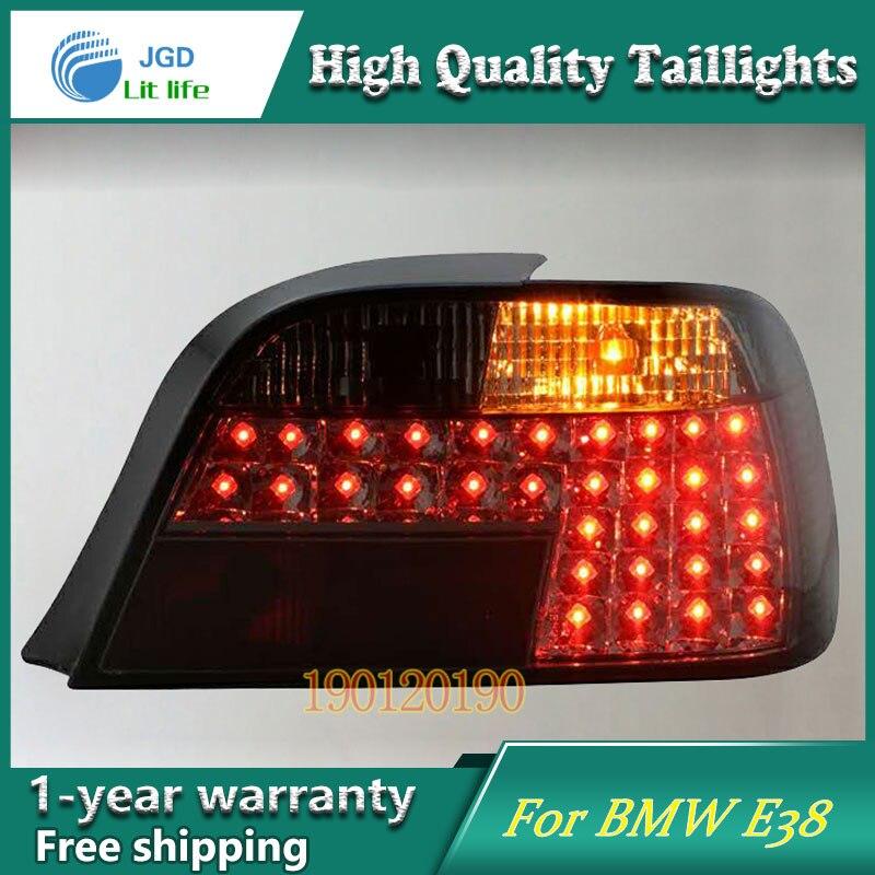 JGD Marque Nouveau Style pour BMW E38 728 730 735 740 750 Feux arrière 1998-2002 LED Feu arrière Arrière Lampe LED DRL Singal Voiture lumières