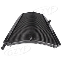 For HONDA 2004 2005 CBR1000RR 04 05 CBR 1000RR Motorcycle Aluminium Engine Cooling Cooler Radiator BLACK