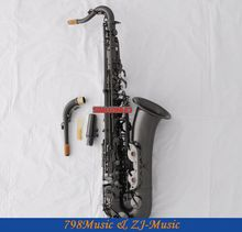 Professional Black Nickel C Melody Sax Saxophone High F#  With Case