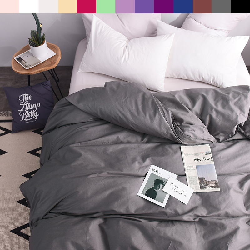 Custom Duvet Cover 1 Persons Quilts Covers King Queen Double 600TC Pure Cotton Luxury Bedding Nordic <font><b>150*200</b></font> 140*200 Gray image