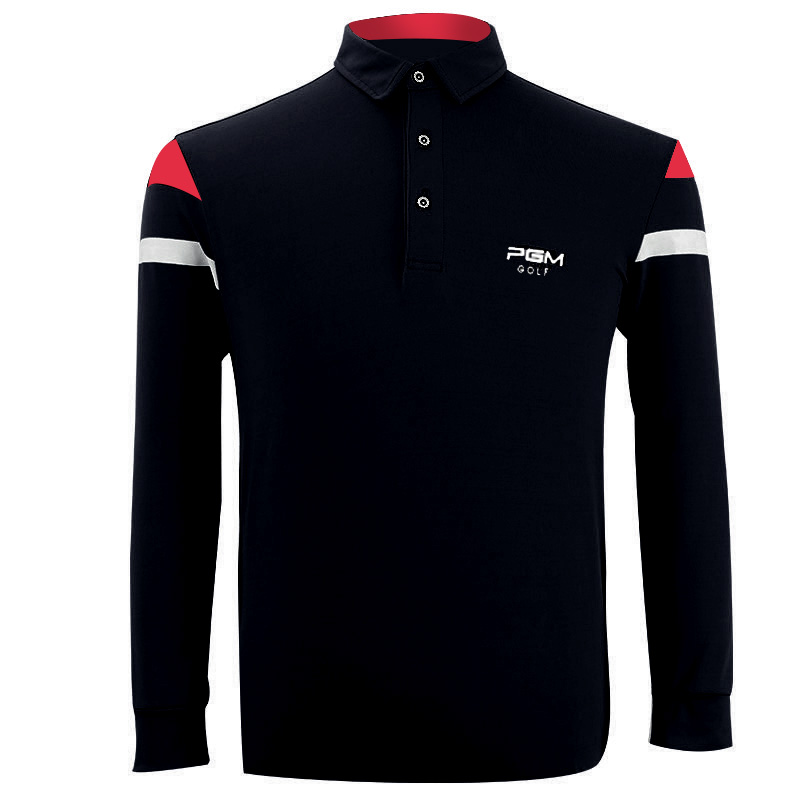 PGM 2018 High Quality Dry Fit Polomens Men Polo Shirts Quick Dry Long Sleeve Tshirt Ropa De Golf Clothing Men Table Tennis Shirt