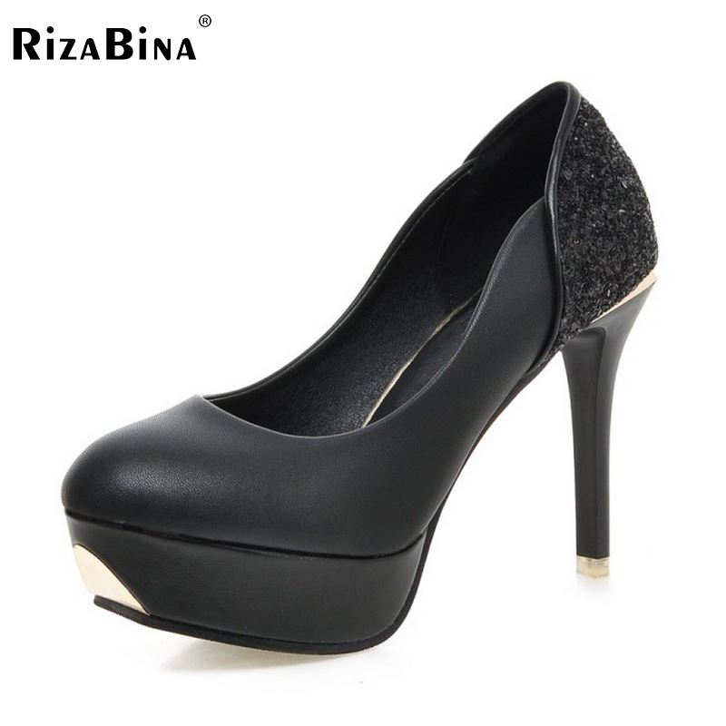 Women Platform High Heel Shoes Fashion Sexy Thin Heels Pumps Ladies Party Brand Wedding Shoes Heeled Footwear Size 35-39 K00604 hot sale brand ladies pumps sexy women high heels platform sexy women high heel pumps wedding shoes free shipping 2888 1
