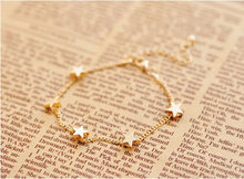 New Lady Girls Bangle Simple Gold Filled Chic Heart Trendy Stars Fine Chain Bracelet Cuff Jewelry Party #DQlyt(China)