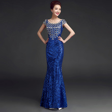 Prom Dresses sequined clothes Long For Special Occasions Evening Dress night Gowns Mermaid 2017 Long Evening Dress