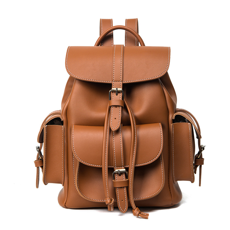 Fashion Women PU Leather High quality For teenage girls School backpack Belt decoration Casual Travel High capacity Backpacks fashion backpacks for teenage girls women pu leather backpack men school bag casual vintage large capacity black travel backpack