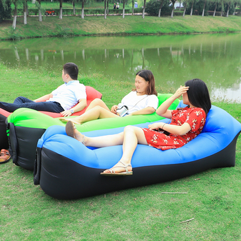 2019 Trend Outdoor Products Fast Infaltable Air Sofa Bed Good Quality Sleeping Bag Inflatable Air Bag Lazy bag Beach Sofa Laybag 1