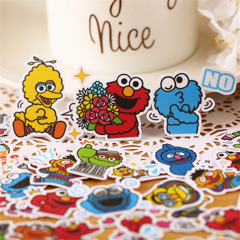 35 PCS Mini Profile Monster Paper Stickers Crafts And Scrapbooking Stickers Kids Toys Book Decorative Sticker DIY Stationery