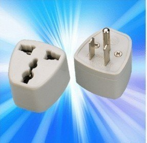 UK AU US EU to US - 3 to 3 Prong Travel Adapter Converter Outlet Plug - USA