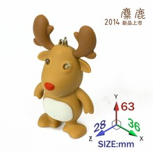 high quality Christmas elk sound luminous keychain LED deer Flashlight creative gift for Christmas gift wholesale