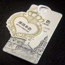 Custom coated paper card Womens Wear Tag Clothing Tag,